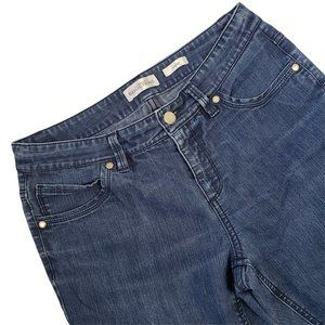 Northern Reflections Womens Jeans Size 4 Petite Studio Mid Rise Straight Denim